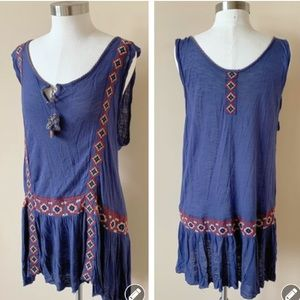 Free people embroidered peasant dress #4904